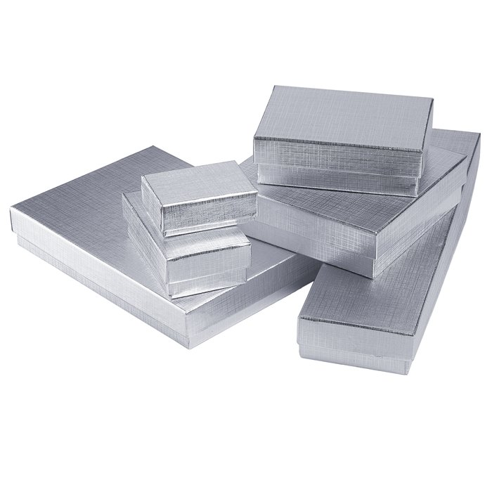 Silver Foil Gift Box Anne Gregory LLC
