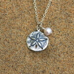 Sand Dollar and Cultured Freshwater Pearl Necklace