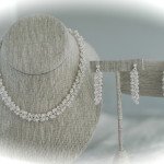 White Pearl Beaded Chain Maille Ensemble