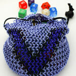 Victory Chain Maille Dice Bag, Chain Maille Dice Bag