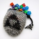 TriForce Silver Chain Maille Dice Bag