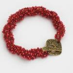Wild Berry Spiral Bracelet