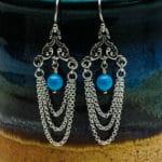 Victorian Crystal Pearl Earrings