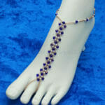 Copper Blue Diamond Barefoot Sandal
