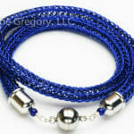 Blue Artistic Wire Viking Knit Neck Rope